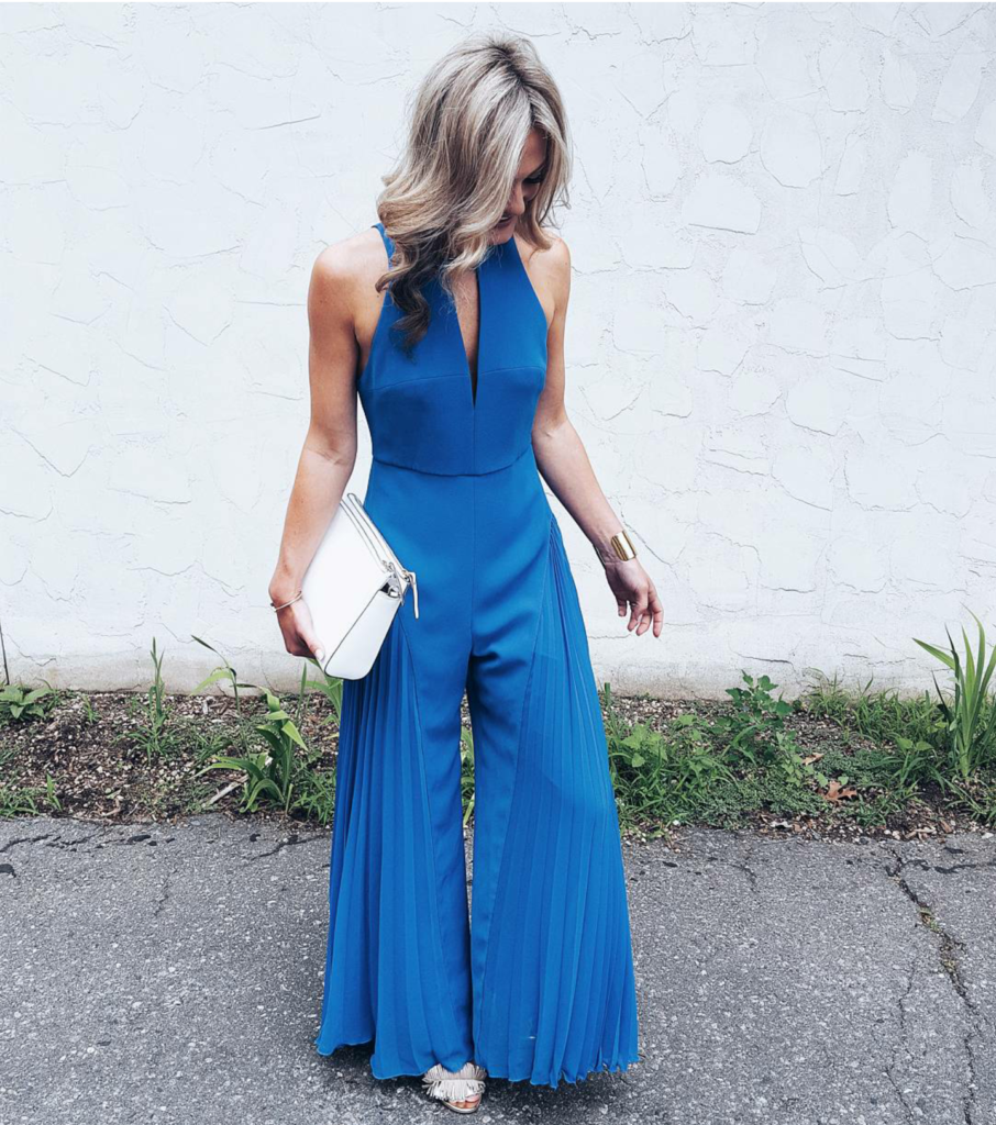 Halston Cobalt Jumpsuit with Rent the Runway on C+M