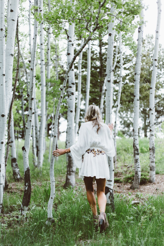 Running with the Aspens in Boulder Co. with Champagne + Macaroons
