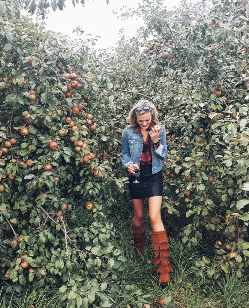 Apple Picking & Wine Sipping on Champagne + Macaroons