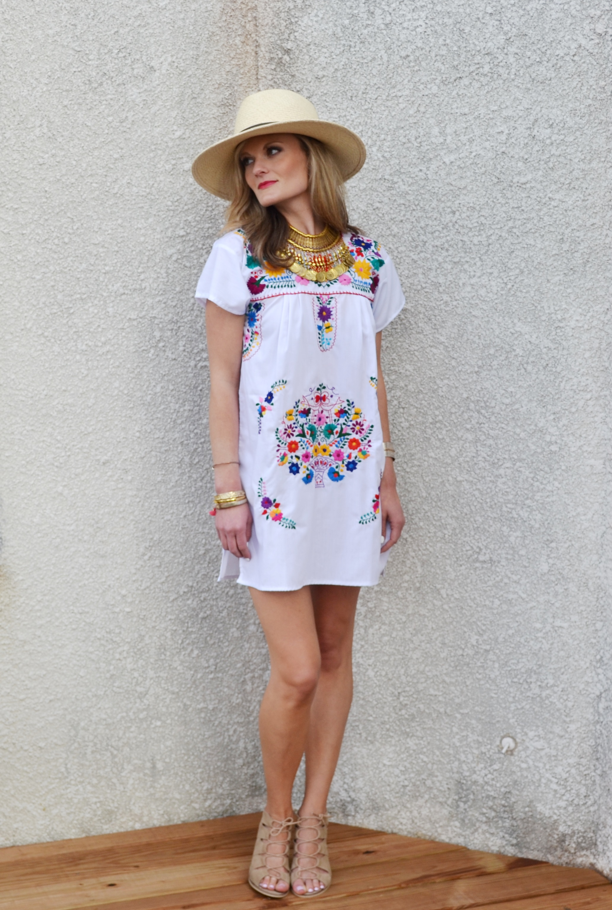 Handmade Dress Gnomadic Gloria Fedora Janessa Leone Diba True Sandals In Evereve Gold Tel Necklace Ily Couture Rose